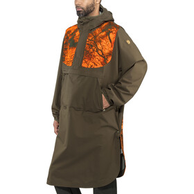 Fjällräven Lappland Eco Shell Poncho dark olive-orange camo